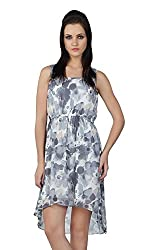 Liwa White Polyester Dress For Women