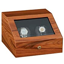 Orbita Siena Two Rotorwind Watchwinder, Teak Finish