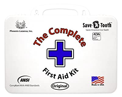 The Complete First Aid Kit - Includes Save-A-Tooth, 100% Made in USA from Phoenix-Lazerus, Inc.