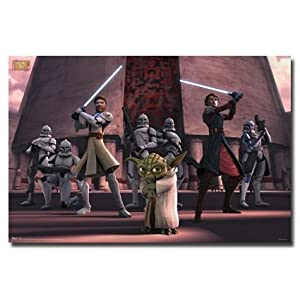Star Wars the Clone Wars Poster - Horizontal Print 22.5 X 34