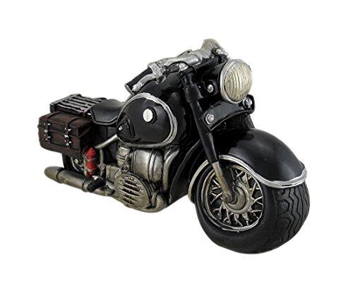Black Cruiser Style Motorcyle Sculptural Coin Bank - 1