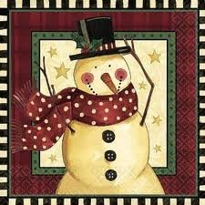 Cozy Snowman Lunch Napkins 16ct - 1