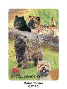 Best Friends Playing Cards, by Ruth Maystead - Cairn Terrier - 1