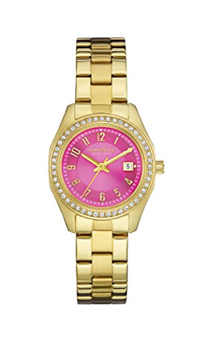 Caravelle New York Women's Quartz Watch with Pink and Gold Analogue Quartz Stainless Steel Coated 44 M107