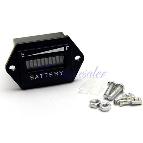 Battery Indicator Meter Engine Tri-Colors For 12V 24V Dc Systems