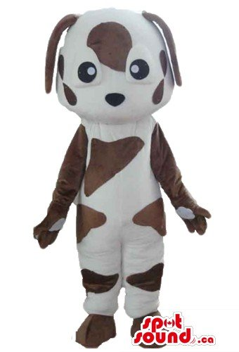 [Baby brown and white St Bernard Dog SpotSound Mascot US costume funcy dress] (St Bernard Baby Costumes)