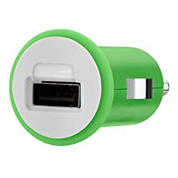 Belkin Micro Car Charger 10W/2.1Amp, Green