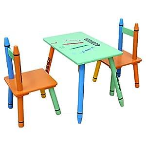 Bebe style cr1t2csg juegos de mesas y sillas para ni os for Mesas de colores para ninos