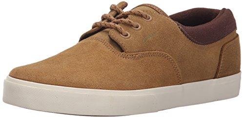 C1RCA Men's Valeo SE Skate Shoe, Camel/Pinecone, 9.5 M US