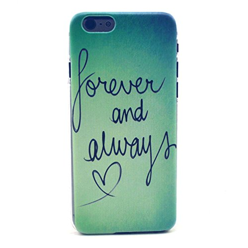 iPhone 6s Plus Case, Angelan® Ultra Slim Fit Lightweight Flexible Scratches Resistant Fingerprint Protection Case Cover for iPhone 6S/ 6 Plus (5.5 inch) (forever love)