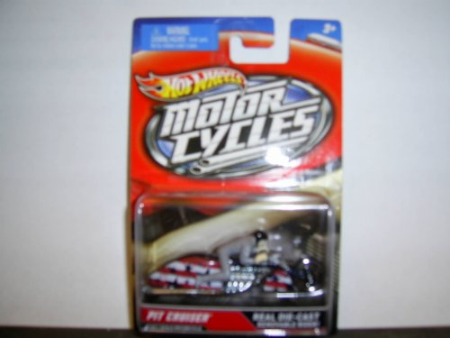 Hot Wheels Motor cycles Real Die-Cast Removable Rider 1:64th Scale Pit Cruiser