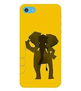 HiFi Designer Phone Back Case Cover Apple iPhone 6 Plus :: Apple iPhone 6+ ( Hello Elephant Wild Cute Elephant )