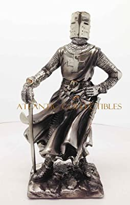 """Medieval Knight 7""""h Crusader Scout Warrior Statue Figurine Suit Of Armor"""