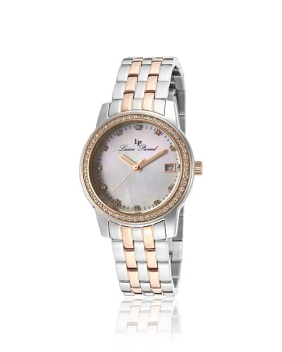 Lucien Piccard Women's 12545-SR-22MOP Taney Silver/Rose/MOP Stainless Steel Watch As You See