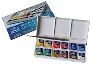 Winsor & Newton Cotman Water Colour Sketchers' Pocket Box set of 12