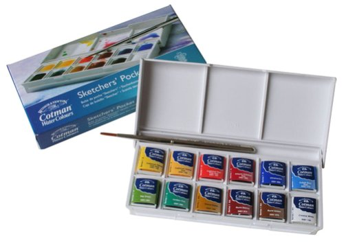 a69879318335 The Sketchers  Pocket Box is my favourite box set because it s the most  compact watercolour box set available. It s small enough to fit into a  shirt pocket