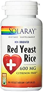 Amazon.com: Solaray Red Yeast Rice Capsules, 600 mg, 90