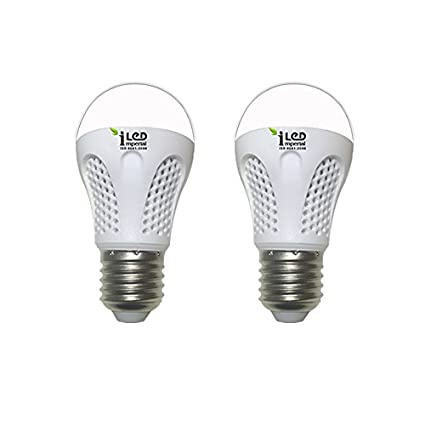 Imperial 4W-CW-E27-3526-2 Screw LED Bulb (White, Pack Of 2)