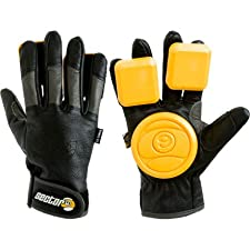 Sector 9 Skateboards Surgeon Leather Gloves Black/Charcoal, L/XL