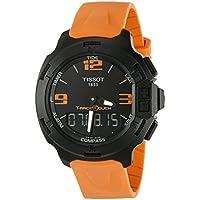 Tissot T-Race Touch Black Dial Orange Rubber Men's Watch