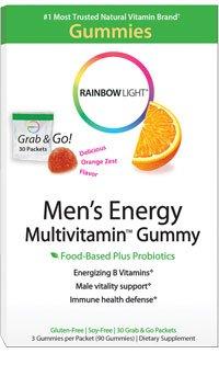 buy Rainbow Light Men'S Energy Multivitamin Gummy 30-Packet Box (3 Gummies/Pkt)