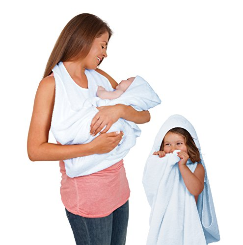 Clevamama Splash and Wrap Baby Bath Towel (Blue) - 1