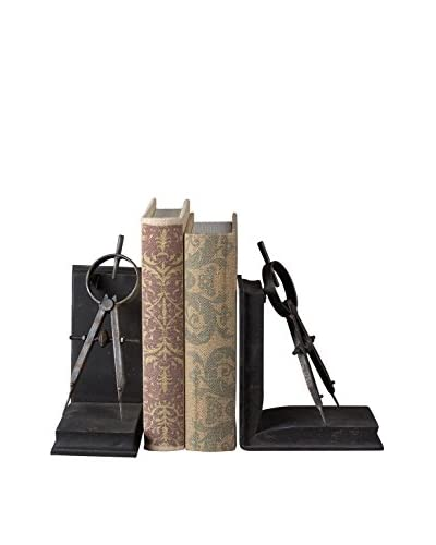 Compass Bookends, Black