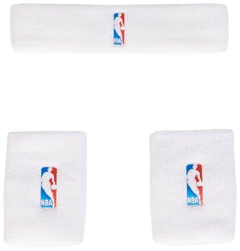 Adidas NBA WB+HB Kit Fascia e Polsini G87965 WHT/BLACK