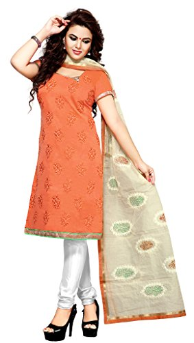 Parisha Embroidered Chanderi Churidar Unstitched Dress ...