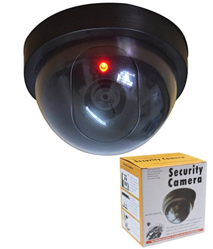 NOVICZ Working Dummy Cam Fake Dome Security Cam Camera With Blinking Led Realistic Looking CCTV Camera  available at amazon for Rs.180