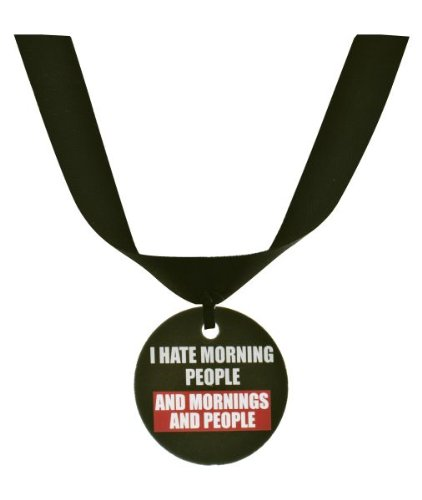 "Ganz Grumpy Cat Collar Accessory ""I Hate Morning People and Mornings and People"""
