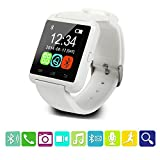 U8 Smart Watch,Teslasz U8 Bluetooth 4.0 Smart Wrist Wrap Watch Phone for IOS Android Smartphones iPhone 5 and Samsung (White)