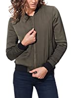 CIMINY PARIS Chaqueta Bomber With Back Embroidery (Verde Oscuro)