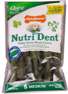 Nylabone Products Ntd101Mw Edible Dental Dog Chews, 8-Ct. - Quantity 6