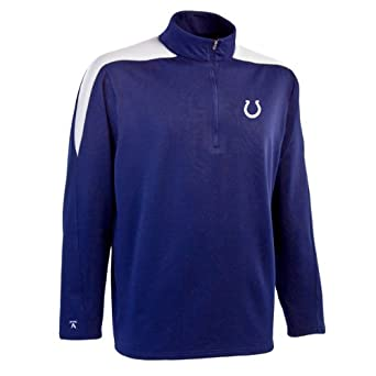 NFL Mens Indianapolis Colts 1 2 Zip Jersey Pullover by Antigua