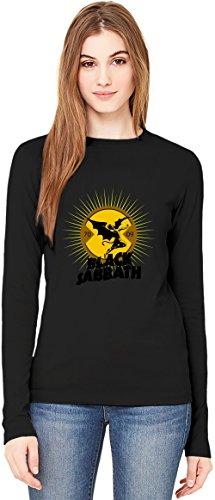 Black Sabbath Token T-Shirt da Donna a Maniche Lunghe Long-Sleeve T-shirt For Women| 100% Premium Cotton Ultimate Comfort Small