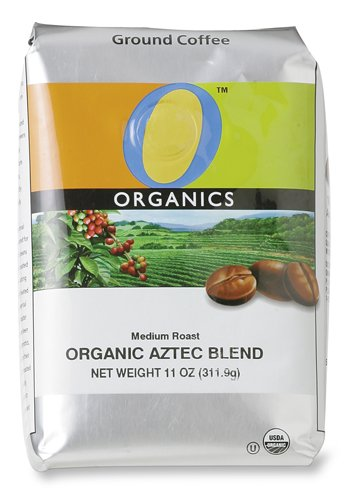 O Organics Aztec Blend Medium Ground Coffee, 11-Ounce Bags (Pack Of 3)