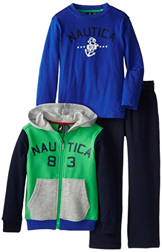 Nautica Little Boys' Fleece Set, Nks Jade, 6 front-1027645