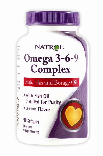 Natrol Omega-3-6-9 Complex with Flax and Borage, 90 Softgels (Pack of 2) (Flax Omega 3 Supplements compare prices)