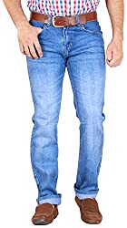GOSWHIT Men's Straight Fit Jeans - 30