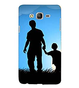 Printvisa Premium Back Cover Father Son In Moonlight Design For Samsung Galaxy On5::Samsung Galaxy On5 G550FY