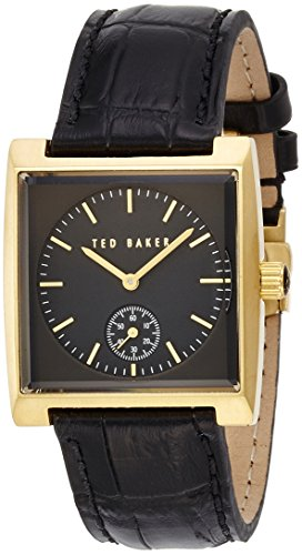 Ted Baker Sub-Seconds Dial Black Leather Strap Gold-Tone Men's watch #TE1111