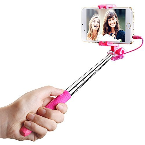 Sale!! Mpow Selfie Stick, Mini Portable Monopod with 3.5mm Wire Connecting for Android/IOS Phone/Gop...