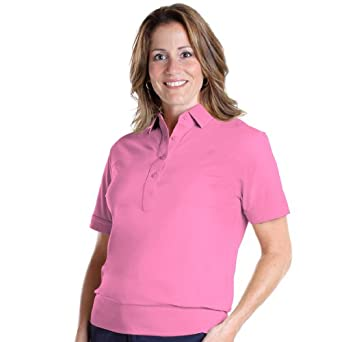 women 39 s banded bottom polo shirts