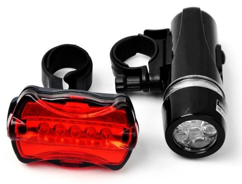 5-Led, All Purpose, Dual Mode, Front Light And Rear Warning Lamp (Black With Red) front-871661