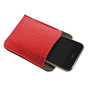 "Felt Multimedia Case Style 1, 3.5"" x 5"" - Bright Red"