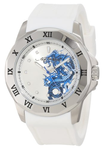 Ed Hardy Men's RM-WH Roman White Watch