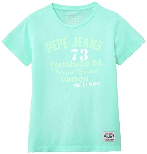 Pepe Jeans Jungen T-Shirt, Darcys, GR. 176 (Herstellergröße: 16 ans) grün (Mojito)