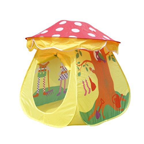 簡単☆軽量!子供用テント キッズテント プレイハウス きのこ形 おもちゃ