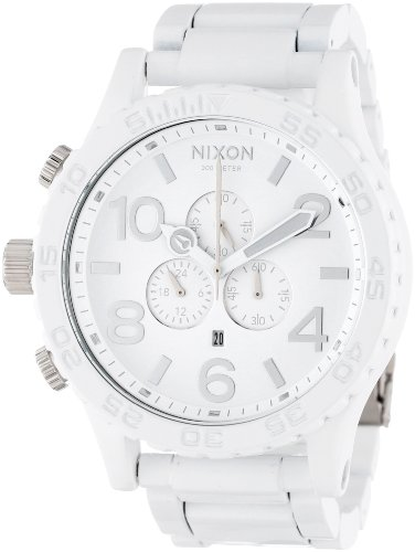 Nixon Unisex The 51-30 Chrono All White/Silver Watch One Size